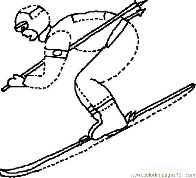 Filying Coloring Page - Free Winter sports Coloring Pages ...