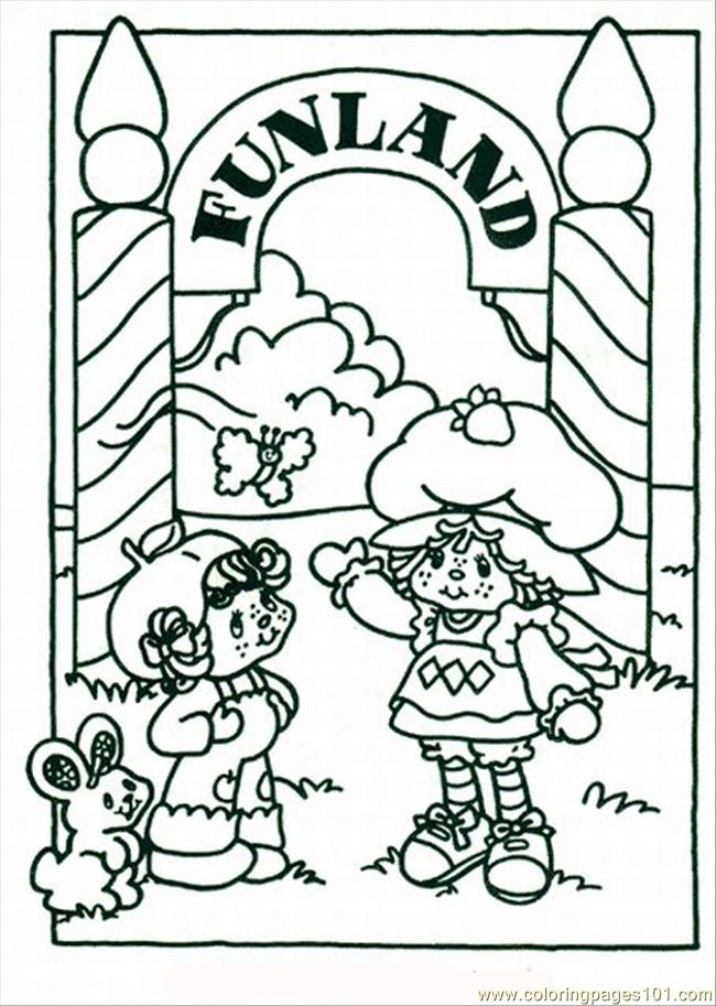 Free Strawberry Shortcake Lrg Coloring Page