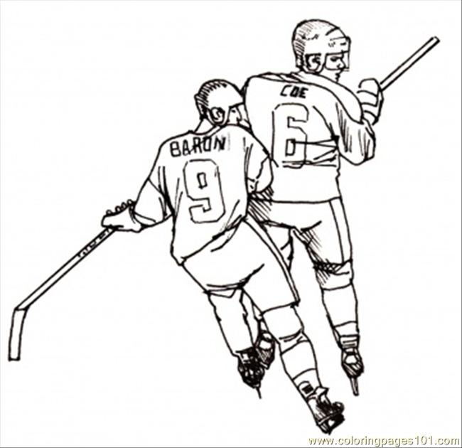 Hockey Players Coloring Page Coloring Page