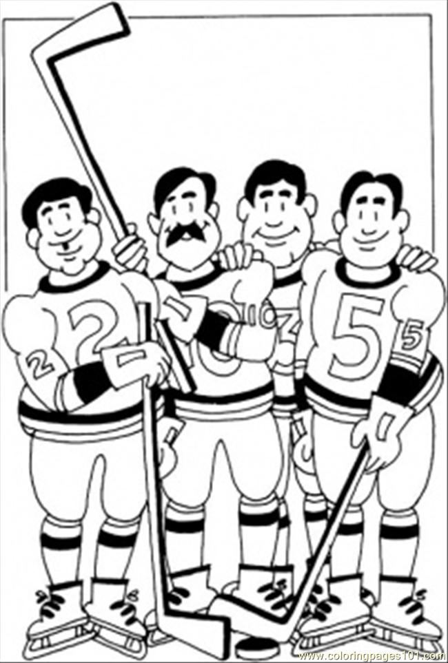 Hockey Team Coloring Page Coloring Page Free Winter