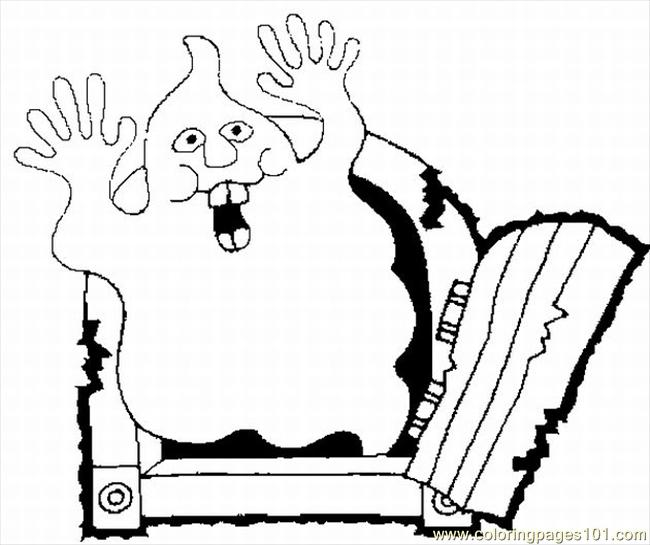 Ring Pages Free Halloween Lrg Coloring Page