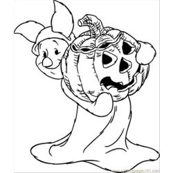 Alloween Piglet Coloring Page