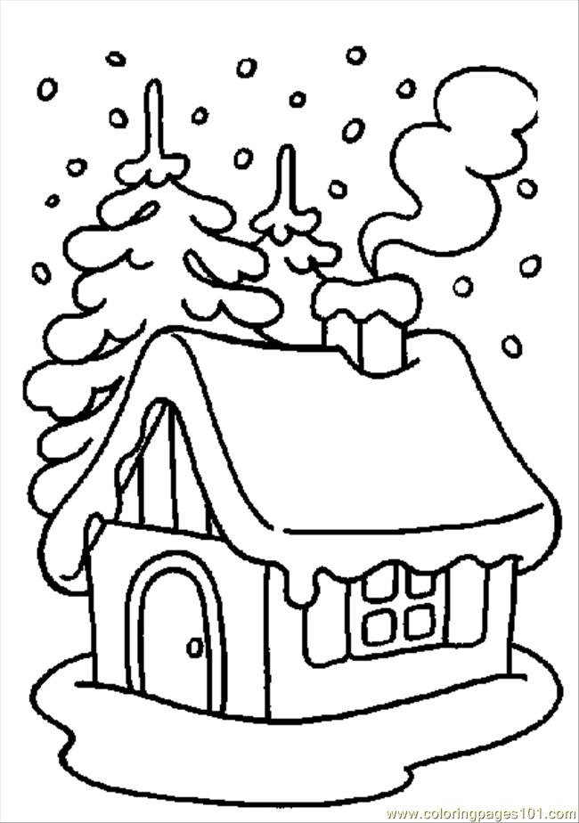 Winter Coloring 01 Coloring Page