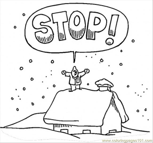 Winter Coloring Page Coloring Page
