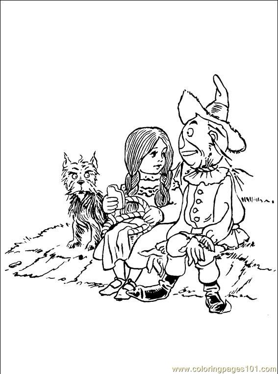 Wizard Oz 001 8 Coloring Page