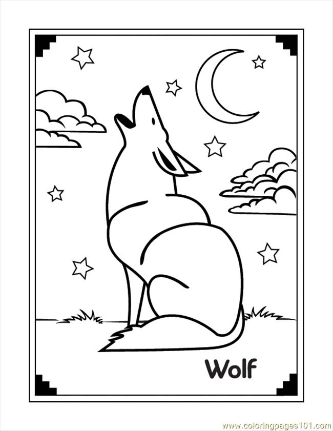 Wolf Coloring Page Free Wolf