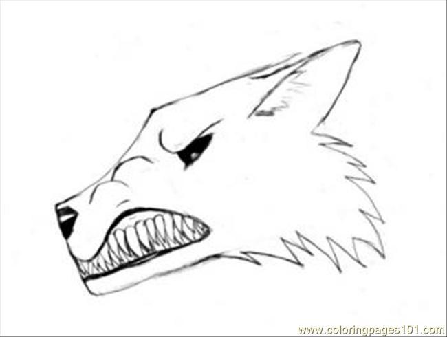 Narling Wolf Tutorial Drawing Coloring Page