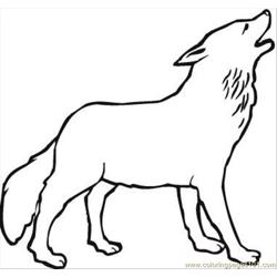 Wolf 14 Coloring Page