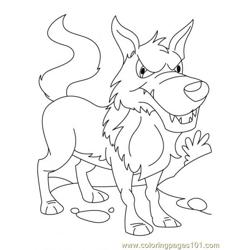 Wolf Coloring Page10