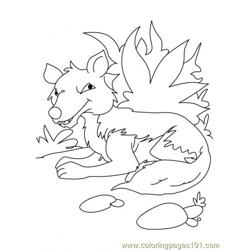 Wolf Coloring Page1