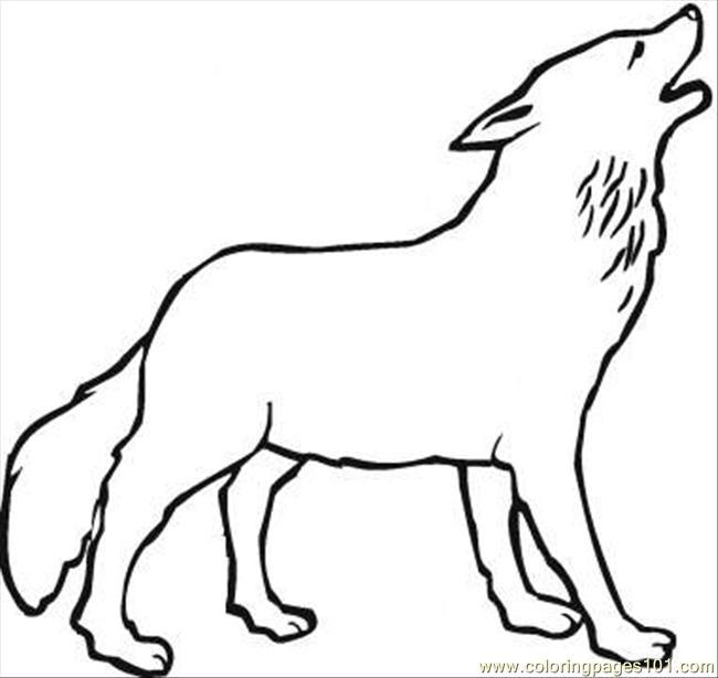 Wolf 14 Coloring Page Coloring Page - Free Wolf Coloring Pages :  ColoringPages101.com