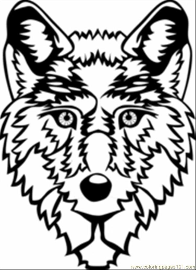 Wolf Head Coloring Page Free