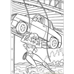 Wonder Woman 40 coloring page