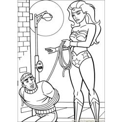 Wonder Woman 50 coloring page