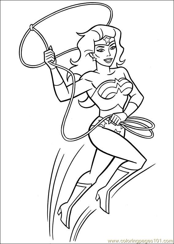 Wonder Woman 41 Coloring Page