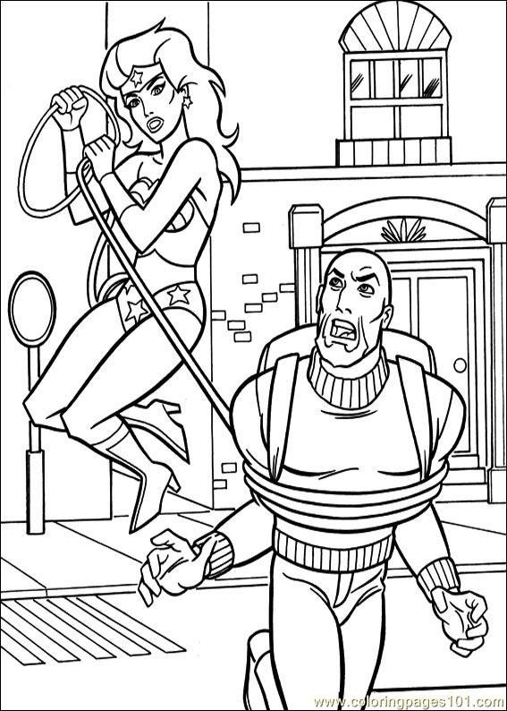 Wonder Woman 43 Coloring Page Free Wonder Woman Coloring