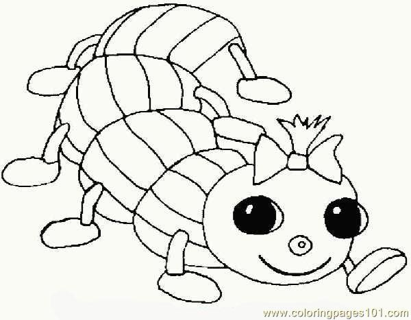 Worm Coloring Page