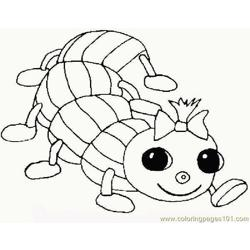 Worm Free Coloring Page for Kids
