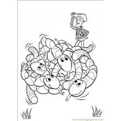 Worms coloring page