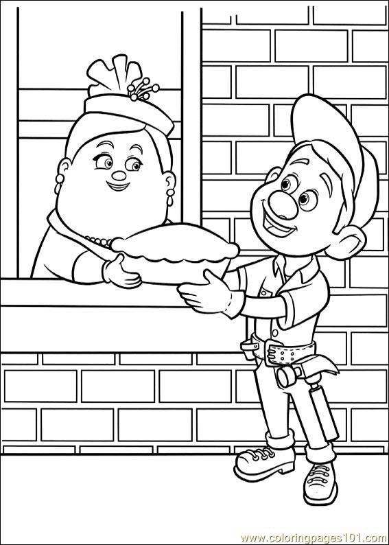 Wreck It Ralph 03 Coloring Page Free Wreck It Ralph