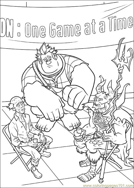 Wreck It Ralph 04 Coloring Page
