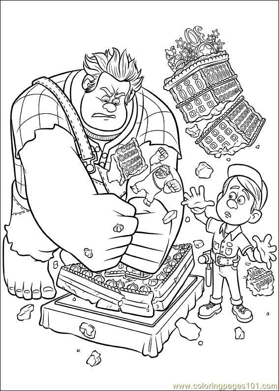 Wreck It Ralph 06 Coloring Page