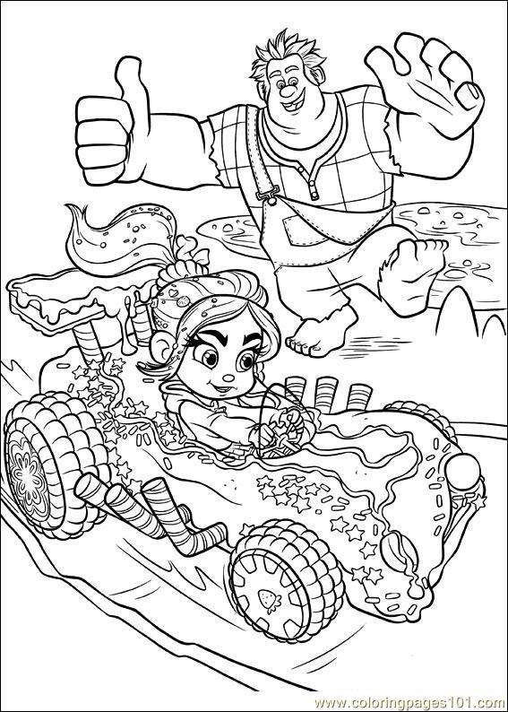 Wreck It Ralph 20 Coloring Page Free Wreck It Ralph