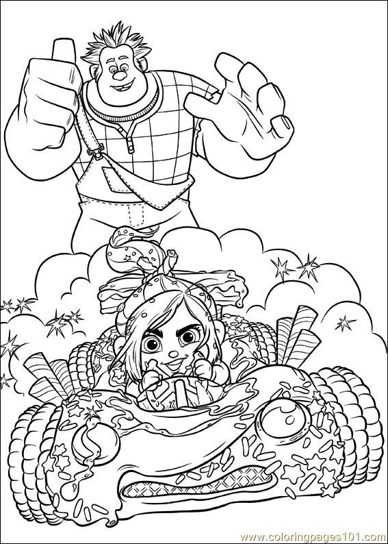 Wreck It Ralph 25 Coloring Page