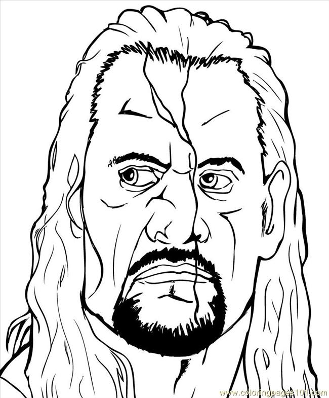 Wrestlers 010 Coloring Page Free Wrestling Coloring Pages