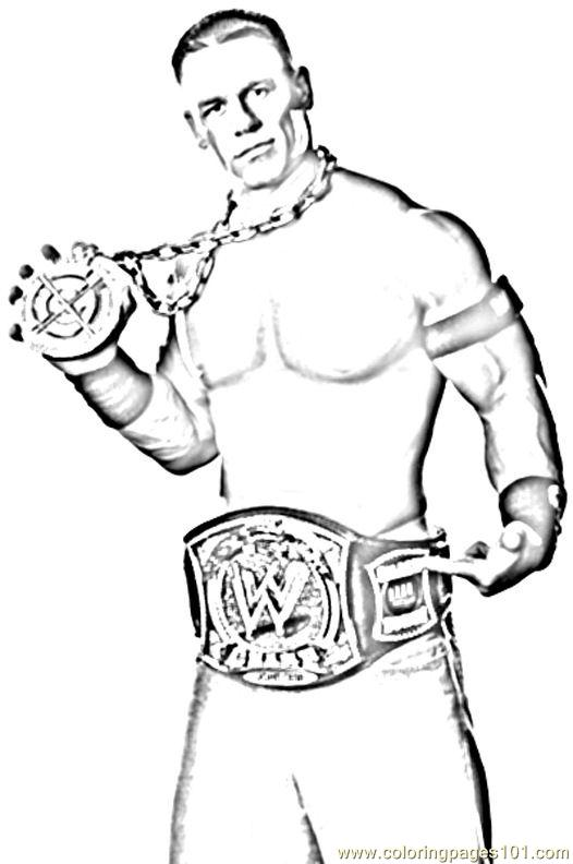 Wrestlers 03 Coloring Page