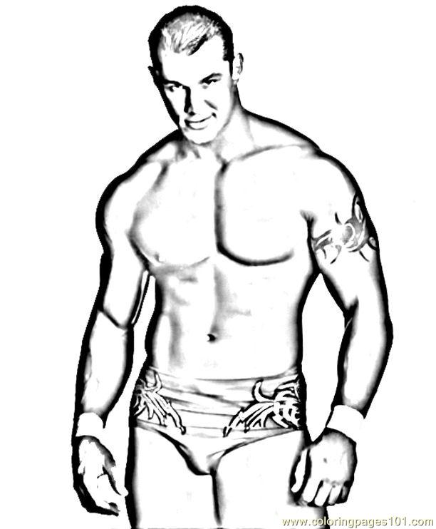 Wrestlers (05) Coloring Page