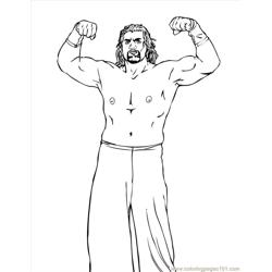 Wrestlers (06) coloring page