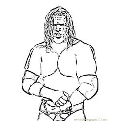 Wrestlers (07) coloring page
