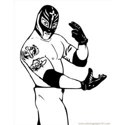 Wrestlers (09) coloring page
