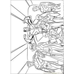 X Men 01 Free Coloring Page for Kids