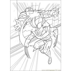 Xmen 32 Free Coloring Page for Kids
