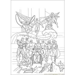 Xmen 36 Free Coloring Page for Kids