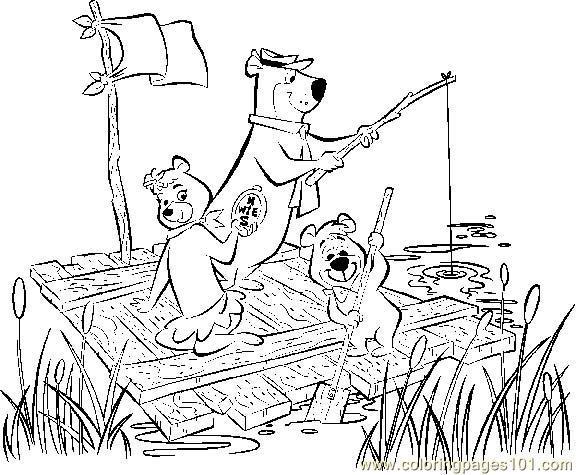 Yogi Bear Coloring Page For Kids Free Yogi Bear Printable Coloring Pages Online For Kids Coloringpages101 Com Coloring Pages For Kids