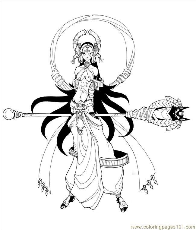 Girl Yugioh Red By Baiken032 Coloring Page