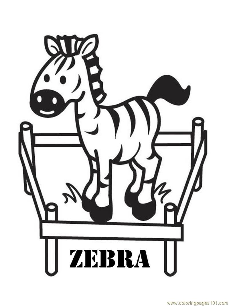 Zebra Coloring Page - Free Zebra Coloring Pages : ColoringPages101.com