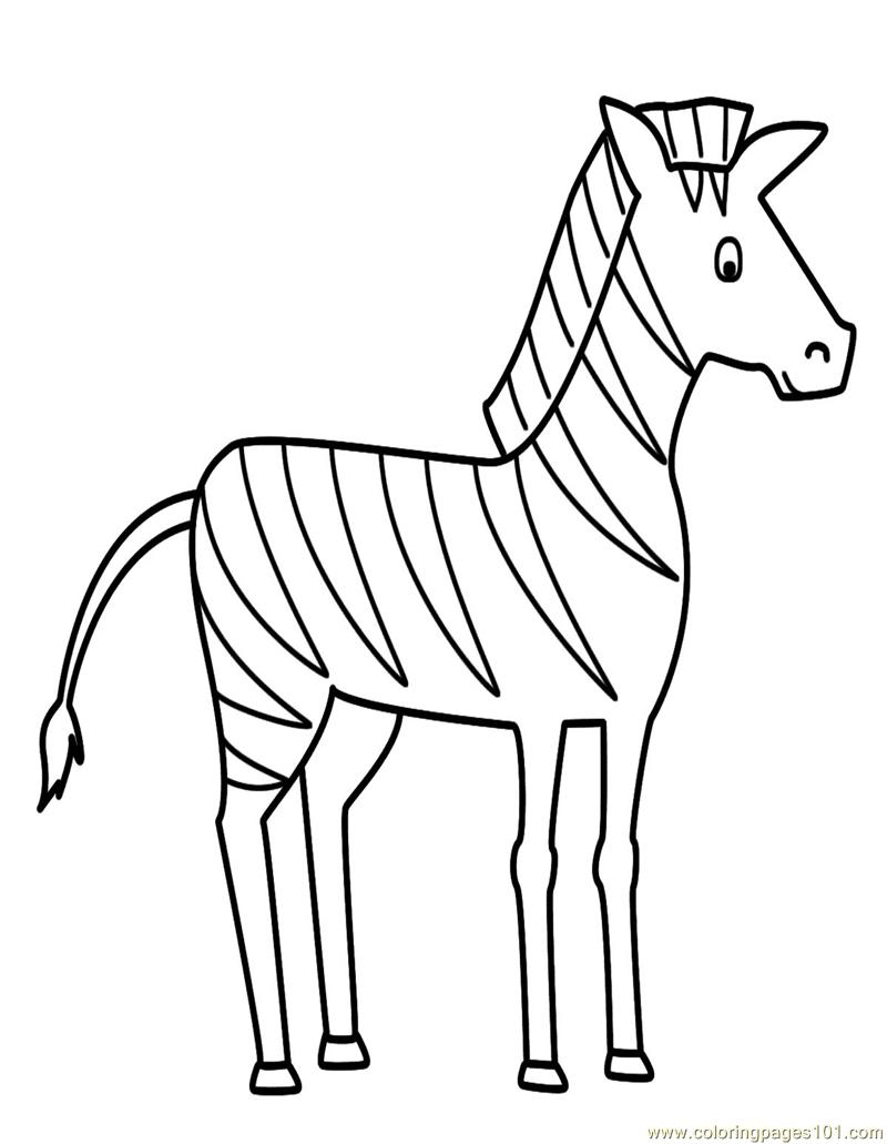 Zebra Coloring Page - Free Zebra Coloring Pages : ColoringPages101.com