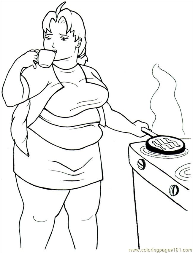 breakfast with cereal and milk coloring page - Breakfast Coloring Pages