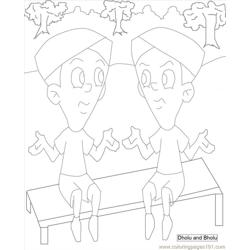 Chota Bheem Coloring Pages 5