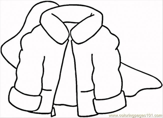 Winter Coat Coloring Page Free