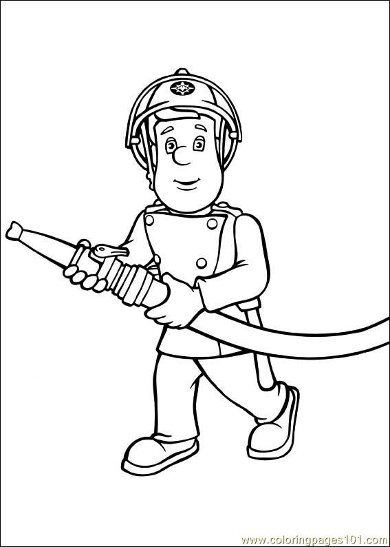 Girl firefighter coloring pages