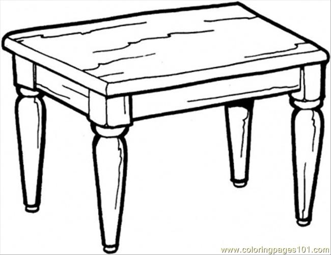 Kitchen Table coloring page  Table Coloring Page