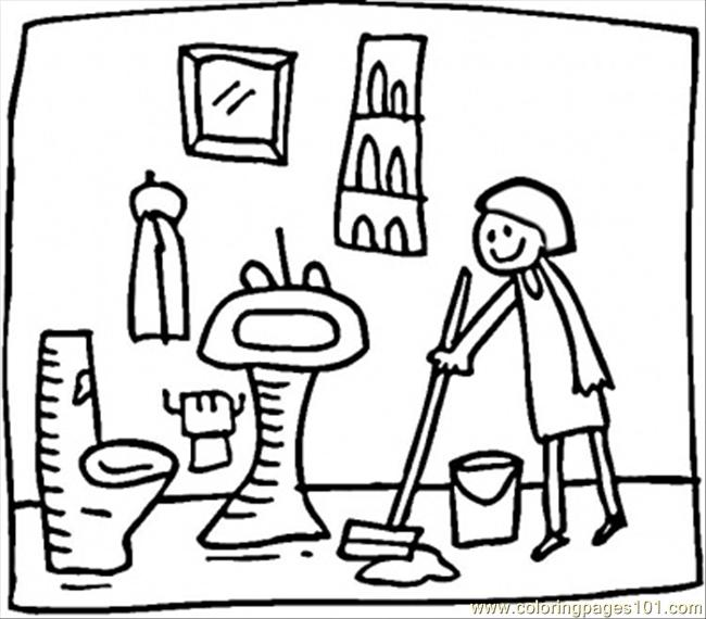 Ng the bathroom coloring page coloring page free