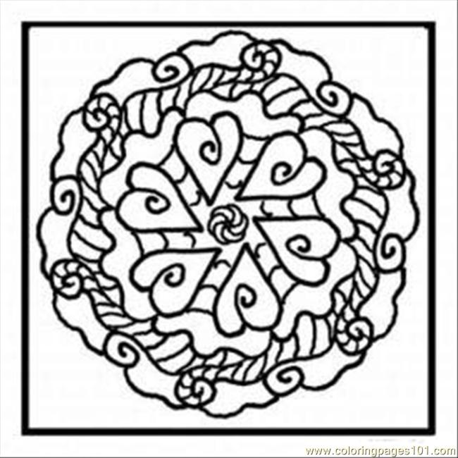 Kaleidoscope 10 Med Coloring Page Free Kaleidoscope Coloring Pages