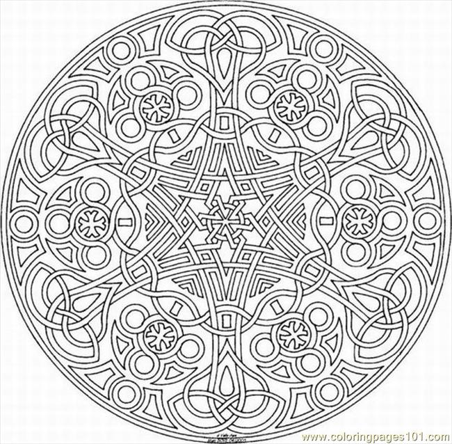 Kaleidoscope 15 Coloring Page