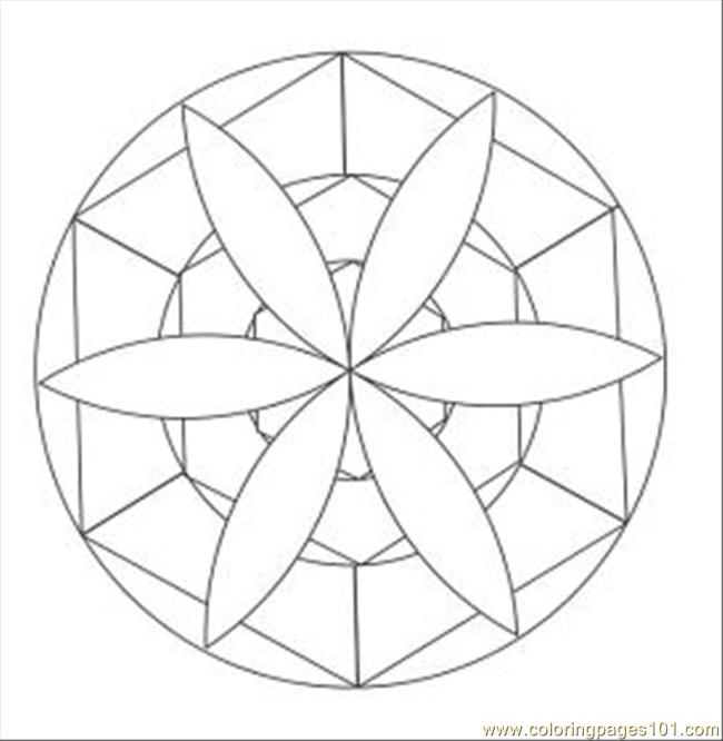 Kaleidoscope 21 Med Coloring Page
